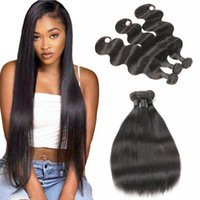 lager indischen haaren großhandel-10A Grade Raw Indisches Reines Haar Gerade Peruanische Menschliche Haarwebart 3 Bundles Großhandel Brasilianisches Haar Bundles US Lager