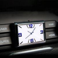 Wholesale mini car gauges resale online - Auto Gauge Clock Luminous Mini Car Air Vent Quartz Clock with clip Auto outlet Vehicle Dashboard Time Display In Car Accessories