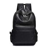 mochilas de verano blancas al por mayor-Nueva moda hombres mochila de los hombres mochilas para adolescente diseñador de lujo Pu mochilas de cuero masculina alta calidad mochilas de viaje Y19061004