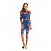 weibliches wunder cosplay großhandel-Marvel The Avengers 4 Überraschung Captain Cosplay Kostüm Overall Cosplay Kleidung