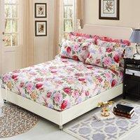 rosa gold elfenbein großhandel-100% Baumwolle Bettlaken mit elastischem Gummi Spannbetttuch Bettwäsche Deep Pocket Twin Queen Double Sinlge Ruissian Größe 160X200cm