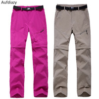 561c295e9429 Aufdiazy Women Spring Summer Removable Quick Dry Hiking Pants Blue Sport Outdoor  Trousers Female Fishing Trekking Pant 3XL JW006