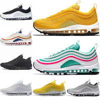 calçados casuais azuis reais venda por atacado-Nike Air Max 97 Airmax 97 Brand New Men Low 97 Almofada Respirável Casual Shoes Cheap Massage Running Flat Sneakers Man 97 Sports Outdoor Shoes