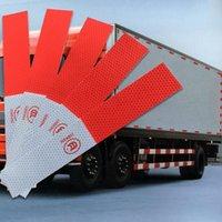 adesivo de imagem venda por atacado-Prático Auto-adesivo Geral Carro Vermelho-Branco Aviso Como Imagem Tira Adesivos Reflexivos Para