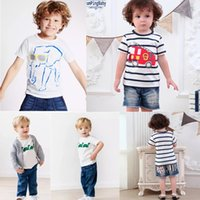 b2a93b01044 ... Summer Infant Cotton Striped Children Boys Girls Tee Cartton Tortoise  Elephant Dragon Girls Short Sleeve T-shirts For Kids. 5% Off