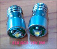 lâmpada vela vermelha levou venda por atacado-LED E10 3 W parafuso recesso LED light 3 V-18 v E10 cabeça Do Parafuso 3 W base de parafuso LED e10 3 w lâmpada bulbo 18 V