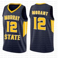 mini yarışçılar toptan satış-NCAA Murray State Racers Üniversitesi 12 Ja Morant Forması Koleji Basketbol Boyut s-xxl Giyer