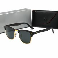mujeres polaroid gafas de sol al por mayor-2019 nuevo lujo Ray Marca Gafas de sol polarizadas Hombres Mujeres Piloto Gafas de sol UV400 Eyewear Bans 3016 Gafas Montura metálica Lente Polaroid