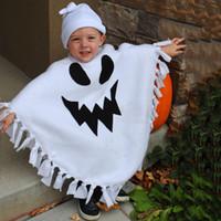 ingrosso nappe vivaci-Toddler Kids Baby Girls Boys 3D Vivid Halloween Nappa Mantello + Cappello Completo