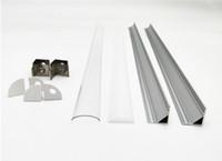 Free Shipping 2.5m pcs 100m Lot Corner aluminum led housing, aluminum profile for led strip lignt led bar light width 12mm