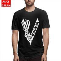 algodão orgânico camiseta venda por atacado-100% Algodão Popular Tees lgoo T Shirt Para O Homem Retro Tee Algodão Orgânico Alicedream T-shirt