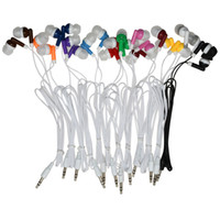 Wholesale red black brown blue wires resale online - Disposable Earphones Headphones Low Cost Earbuds for Theatre Museum School library Hotel Hospital Gift Colors