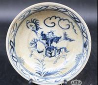 ingrosso porcellana antica-Nuovi oggetti d'antiquariato in porcellana antica blu e bianca Jingdezhen in ceramica antica porcellana Da Ming Xuande piatto blu e bianco