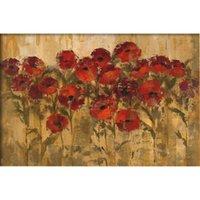 pinturas do sol venda por atacado-Pintados à mão arte abstrata Silvia Vassileva pinturas a óleo Sunshine Florals Room decor