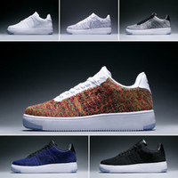Wholesale Sale New Design Forces Men Low Skateboard Shoes Cheap One Unisex Knit Euro Air High Women All White Black Red Casual Shoes