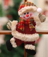 velho boneco venda por atacado-Árvore de Natal Acessórios boneca pequena dança Old Man Snowman cervos Urso pano Puppet Hanging presente pequeno