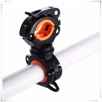 einstellbare lichtklemme großhandel-360 ° -Drehung einstellbar Fahrrad-Frontleuchte Halterung Taschenlampenhalter Light Mount Clamp Clip Kann verwendet werden, um die Taschenlampe zu fixieren