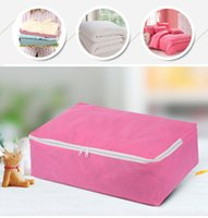 Wholesale bedsheets bags for sale - Group buy Non woven Fabric Storage Bags for Bedsheets Quilt Folding Clothes Storage Organizer for Clothing Quilt Pillow Blanket Storage VT0800