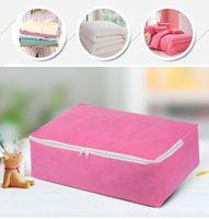 sacos de roupa de cama venda por atacado-Sacos de armazenamento de tecido não tecido para lençóis Quilt Folding Clothes Organizer Storage for Clothing Quilt Pillow Blanket Storage VT0800