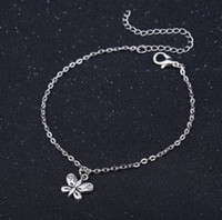 Wholesale anklet accessories for sale - Group buy Jewelry Anklets Butterfly Ankle Chain Antique Silver Alloy Ankle Bracelets Foot Chain Barefoot Sandals Beach Foot Accessories