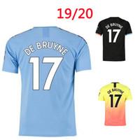 Wholesale thai quality black soccer jersey for sale - Group buy Man KUN AGUERO STERLING City soccer Jersey DE BRUYNE Sane G JESUS MAHREZ SILVA CANCELO Shirt top thai quality jerseys