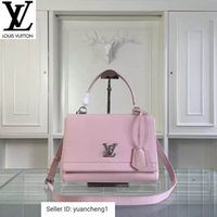 palladium kreuz groihandel-Libobo8 50250 Rosa Palladium Kupfer Twist-Lock-Closurel Handtaschen Top Griffe Schultertaschen Totes Abend Umhängetasche