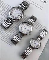 nette männeruhren großhandel-2019 Top 35mm 28mm Damenuhren 42mm Herren Chronograph Quarzuhr Sport Man Date hochwertige Luxus Armbanduhren Design Schöne Uhr
