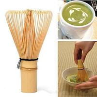 bambu yeşil çay toptan satış-Yeni Japon Töreni Bambu Chasen Yeşil Çay Matcha Toz 002 Hazırlamak için Çırpma Teli - Kahve Çay Araçları
