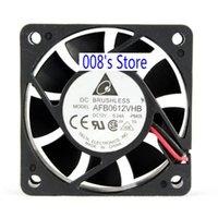 inversor pwm venda por atacado-New Radiator CPU Cooler Fan Para o Servidor Inverter PC AFB0612VHB PM05 / BH1Q 6015 60 * 60 * 15MM 12V 0.24A 6CM 3/4 fio PWM 3700RPM