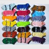 kız askısı toptan satış-Pembe Harf Ayak bileği Çorap Spor Pamuk Çorap Terlik Aşk Pembe Halhal Kızlar Seksi Çorap Kısa Çorap Yaz Gemi Çorap LXL327