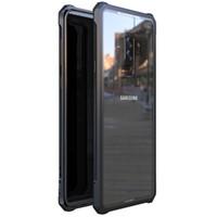 alüminyum nota telefon çantası toptan satış-Samsung S9 S8 Artı Note9 Tampon Not 9 8 Ile Alüminyum Metal Çerçeve Temizle Şeffaf Temperli Cam Arka Kapak Telefon Kılıfları Ile T190710