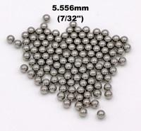 pulverizadores usados al por mayor-7/32 '' (5.556 mm) 304 bolas de acero inoxidable G100 para rodamientos, bombas, válvulas, pulverizadores, utilizados en la industria alimentaria, aeroespacial y militar