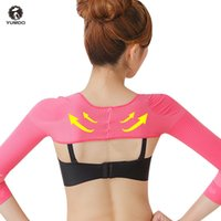 Wholesale arm slimmers belt resale online - Yumdo Arms Shaper Slimming Control Sleeves Shapewear Womem Posture Corrective Shoulder Support Belt Arms Slimmer Reduce Wraps
