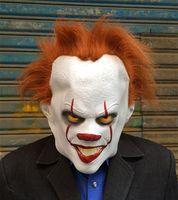 trajes de pelicula para mujeres al por mayor-Payaso Fiesta de Halloween Máscaras Hombres Mujeres Máscaras faciales llenas Cosplay Película Estrella Accesorio de vestuario