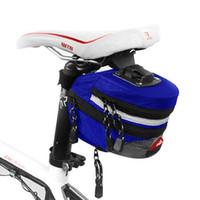 almofadas ao ar livre venda por atacado-Sela de bicicleta Bag Pacote de Cauda Sacos de Almofada Ao Ar Livre Bicicleta Assento Garrafa Portátil Cores Mix Portátil Admissão Removível 8 5yxf1