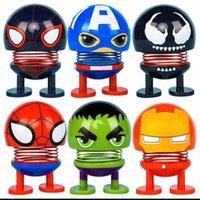 kopfschütteln spielzeug großhandel-Originalität Avengers Shaking Head Doll 8 Zeichen Captain America Venom Mini Spielzeug Neuheit Artikel für Kinder Playiing 2 2yy E1