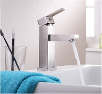 Wholesale square hole stainless steel resale online - SUS Stainless Steel Square Type Design Single Liver Basin Faucet