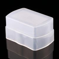 yn flash al por mayor-Softbox difusor de flash para 580EX YONGNUO YN-560 YN560II YN-560III YN-560IV Tapa del difusor de flash Color blanco 100