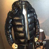 Wholesale black pearl weaves resale online - moncler Down jacket man coat winter thicken The jacket Brief paragraph hooded maya Outdoor clothing black new style waterproof