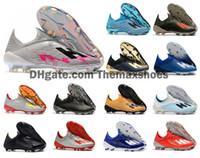 calçados homens tamanho 6,5 venda por atacado-2019 Hot X 19+ 19,1 FG Mens Futebol Script escuro jogo de futebol Inner Redirect pacote de 19 + x futebol botas de futebol Sapatos Grampos Tamanho US 6,5-11