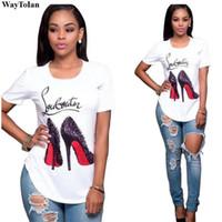 yeni rahat gömlek tasarımları toptan satış-Sıcak Satış Üst Kalite Pamuk Kesim Pug Kadınlar Tişörtlü Günlük O-Boyun Kadınlar Tişört Yeni Tasarım Kadın Tee Gömlek Kadın yazdır