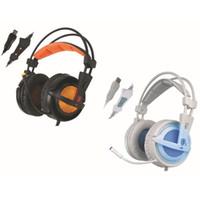 voz para computadora al por mayor-El más nuevo A6 USB 7.1 Estéreo con cable para juego Auriculares para juego sobre la oreja con micrófono Control de voz para jugadores de computadoras portátiles