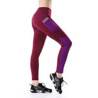 bacaklar toptan satış-Cepler ile Spor Pantolon Koşu DOĞU HONG Kadınlar Yoga Fitness Legging