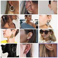 boucles d'oreilles pour 19 achat en gros de-19 style boucles d'oreilles perles simulées cristal infini arc chat bijoux de mode bijoux Brincos Earing 2019 pendientes mujer LXDZ