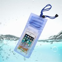 Wholesale white bags for summer resale online - Hot Sale Environmental Universal Under Water Proof Dry Pouch Bag Case Cover Summer Protector Holder For Cell Phone