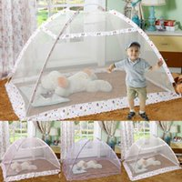 Wholesale folding up beds resale online - Folding Baby Infant Bed Up Mosquito Net Tent Kids Travel Bed Crib Canopy Home Textile