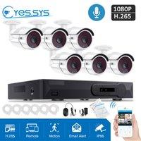 8ch ip kamera nvr großhandel-8CH 4.0MP POE H.265 NVR CCTV-Sicherheitssystem 6pcs 1080P IP-Kamera-System P2P Außen Audio Surveillance Kit 2TB HDD geben Schiff frei