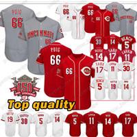 1d118b4a0 Cincinnati Jerseys Reds 66 Yasiel Puig 19 Joey Votto Ken 30 Griffey Jr 11  Barry Larkin 17 Chris Sabo Baseball Jersey