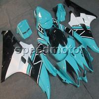 kit de carenado yamaha r6 azul al por mayor-Custom + Screws light blue ABS carenado de motocicleta para Yamaha YZFR6 06-07 YZF-R6 2006 2007 Body Kit paneles de motor