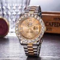 números romanos relojes de señora al por mayor-Relojes de lujo de las mujeres Reloj de marca superior Diamond Dial Band Números romanos Relojes de cuarzo para niñas Señoras Diseñador Reloj de pulsera envío gratis